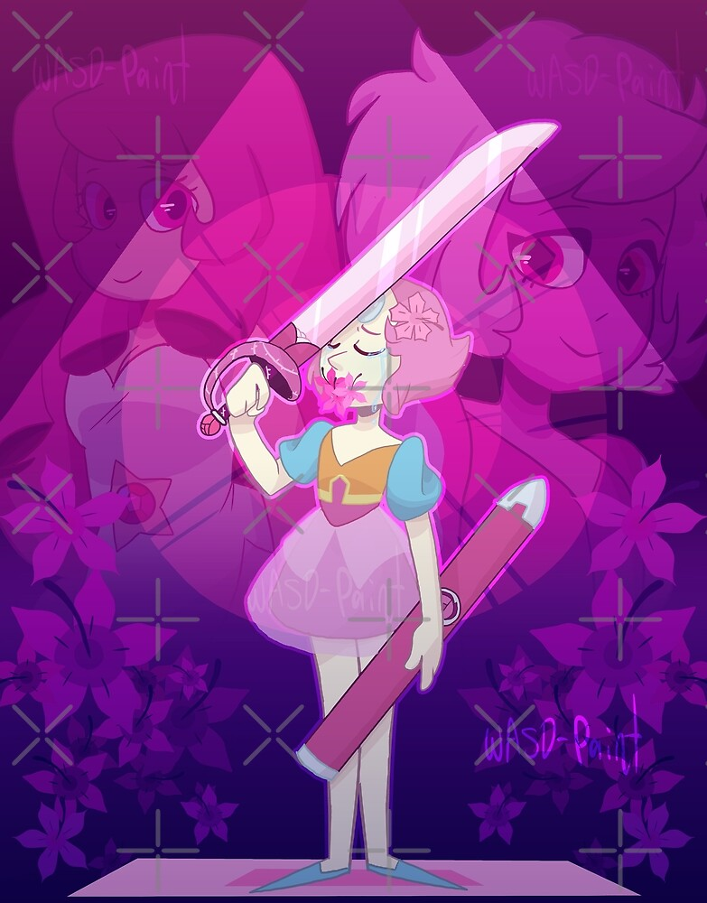 A single pale rose by WasdPaint