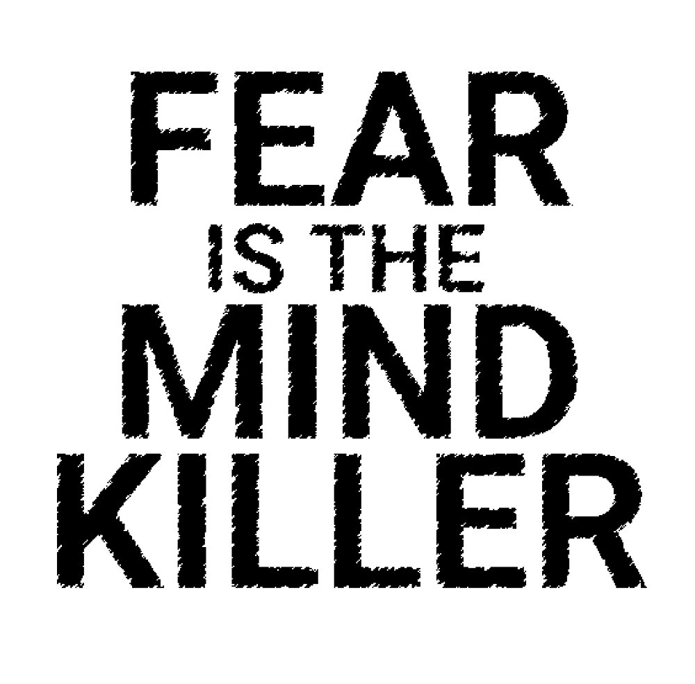 Fear is the mind killer, Dune sticker by azer89