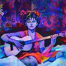 Katia as Gypsy Guitar Player by Oleg Atbashian