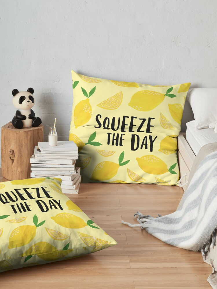 Alternate view of Squeeze the Day Floor Pillow