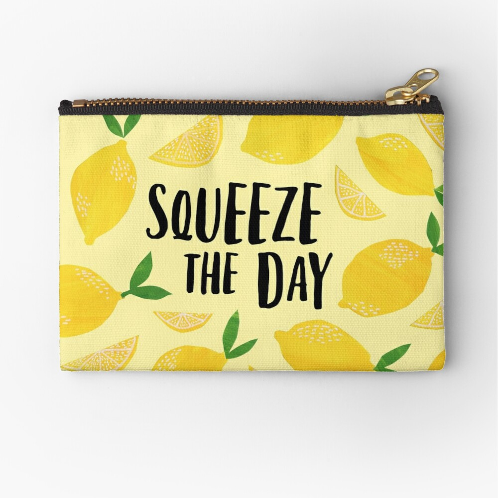 Squeeze the Day Zipper Pouch