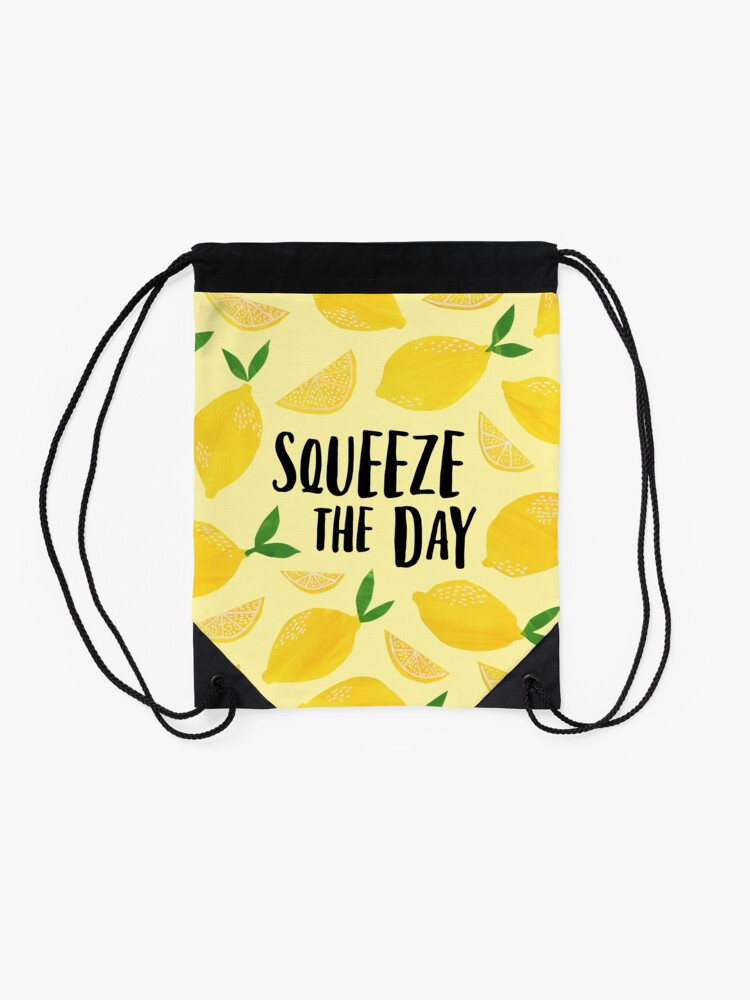 Alternate view of Squeeze the Day Drawstring Bag