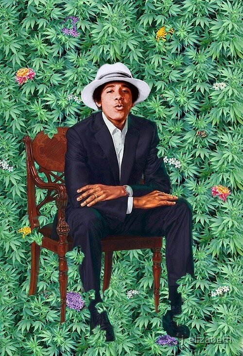 obama portrait by J. Elizabeth