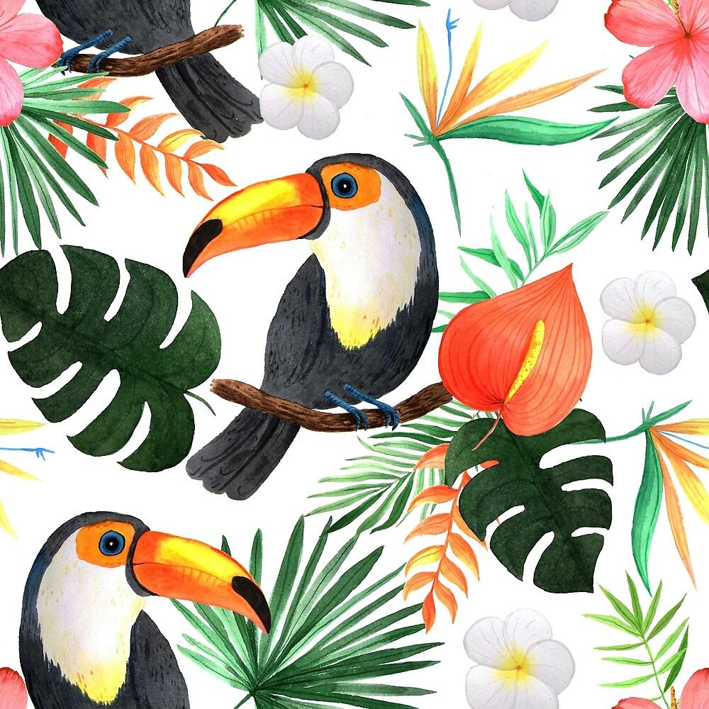 Toucan Tropical Vacation Motif by Lynne Calvert