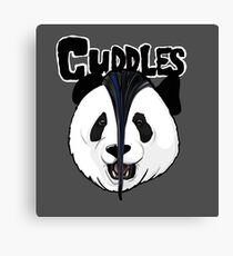 the misfits cute panda bear parody Canvas Print
