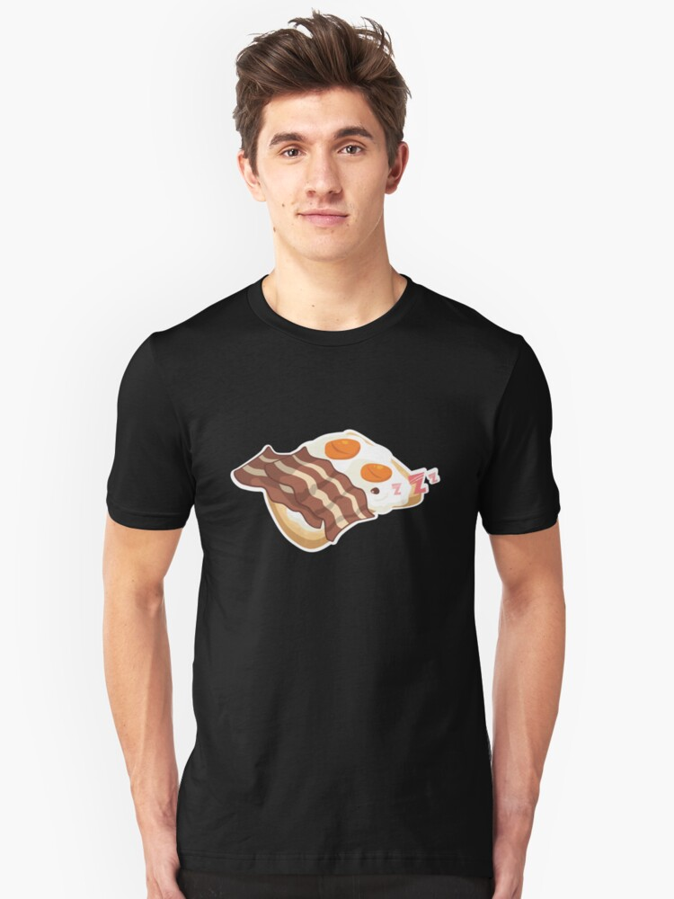 Funny Bacon and Eggs Breakfast of Champions Brunch  Unisex T-Shirt Front