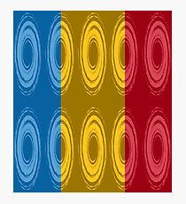 Ten whirlpools in three primary colors Photographic Print