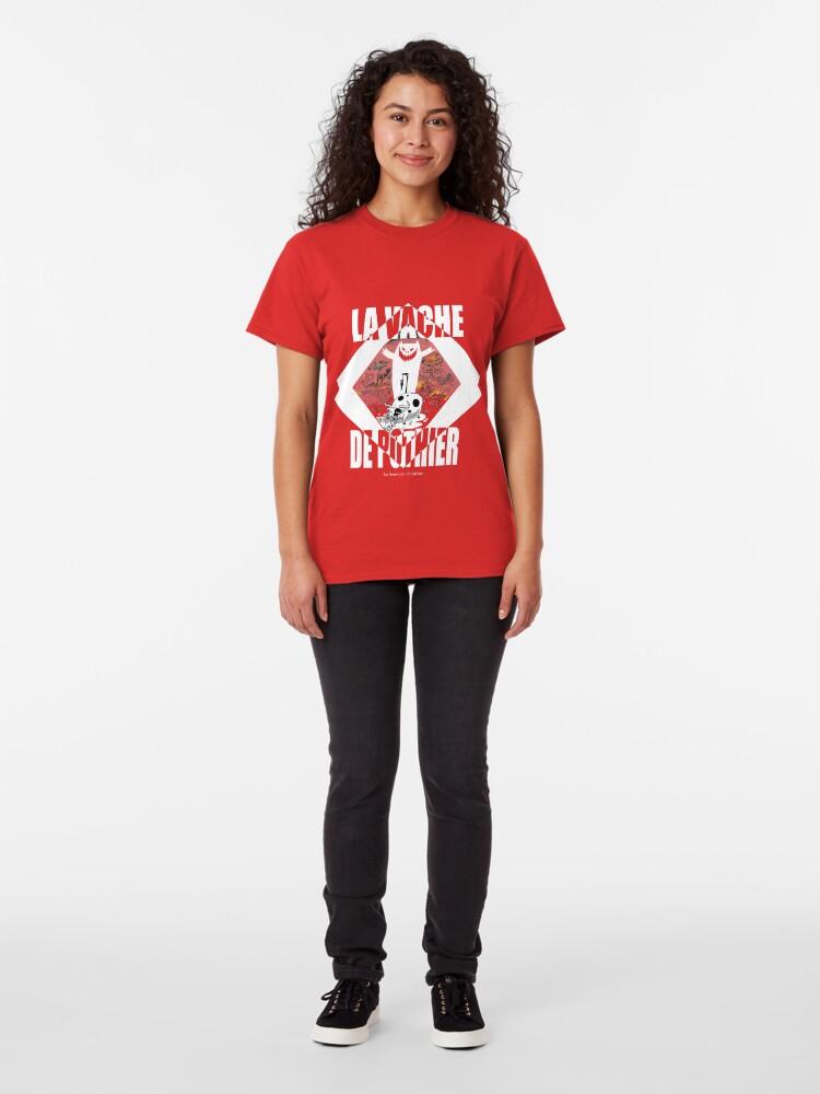 T-shirt classique ''La vache de Pothier': autre vue