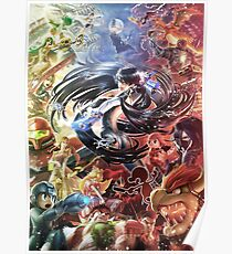 Smash 4 Bayonetta Reveal Illustration Poster