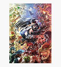 Smash 4 Bayonetta Reveal Illustration Photographic Print