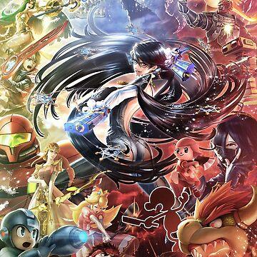 Smash 4 Bayonetta Reveal Illustration by CraigUK37