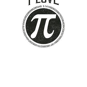 I Love Pi Day Pun T-Shirt by AlphaHannibal
