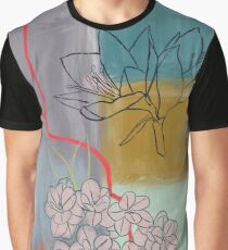 Abstract Lily Flower Painting Graphic T-Shirt