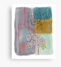 Abstract Lily Flower Painting Canvas Print