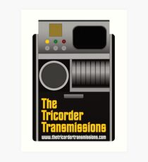 The Tricorder Transmissions Logo Art Print