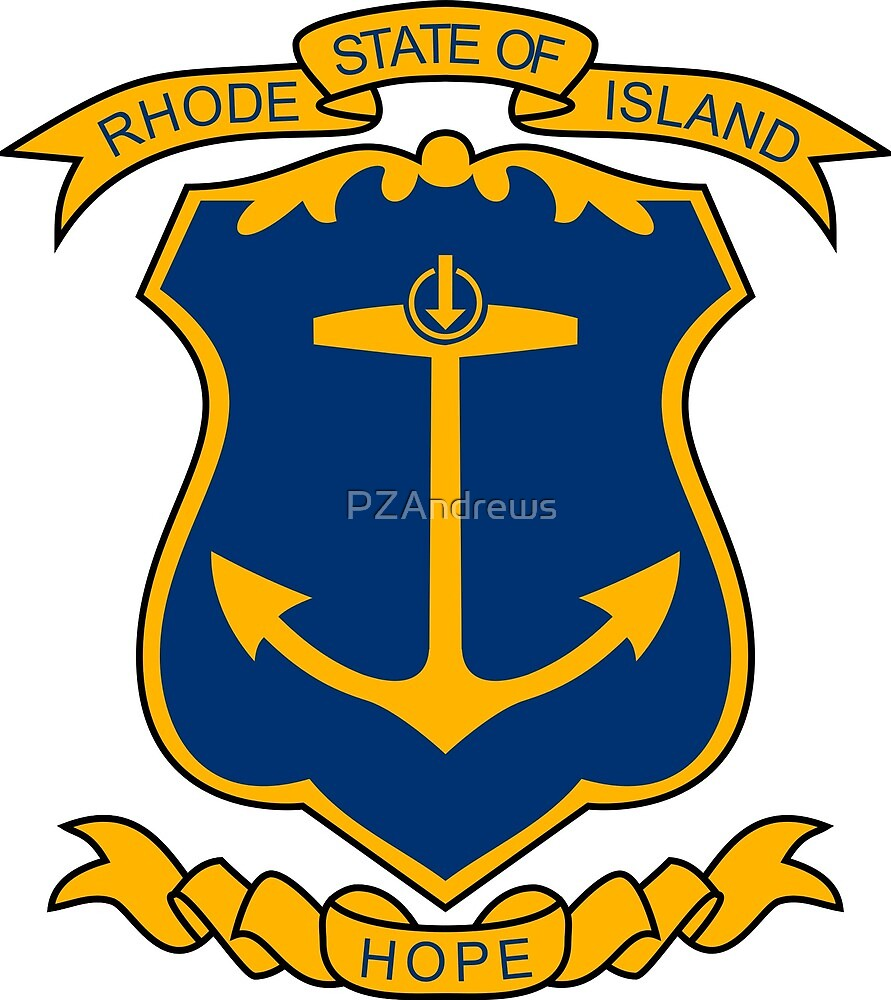 Coat of Arms of Rhode Island by PZAndrews
