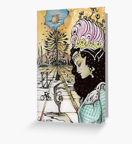 HARLEQUIN QUEEN  Greeting Card