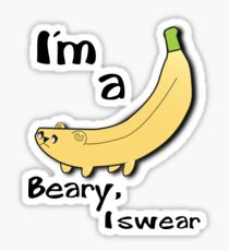 Banana Bear Sticker