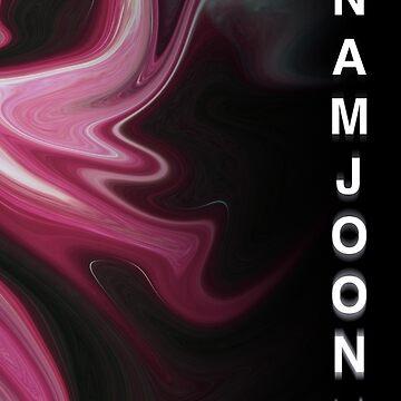 BTS Namjoon - Distorted Marble by camdoesdesign