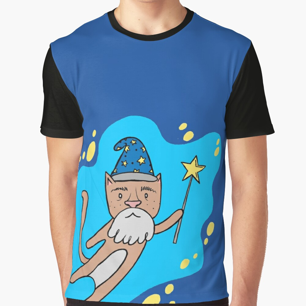 Cat Wizard Graphic T-Shirt