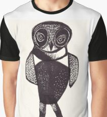 Sassy Owl funky folk art style bird with attitude Graphic T-Shirt