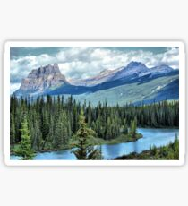 Castle Mountain and Bow River, Banff NP Sticker