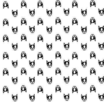 Boston Terrier Print (Color Options) by callmehiwatt