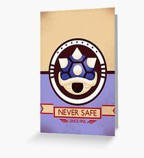 Never Safe - Mario Kart Print Greeting Card