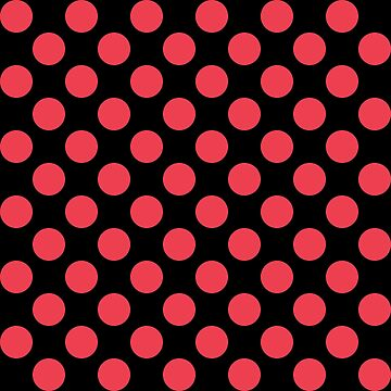 Black with Red Polka Dots by HawaiiArthst