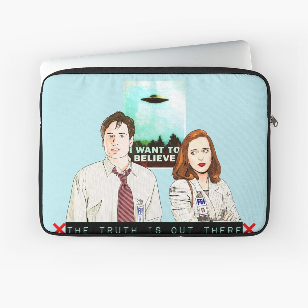 X files the truth is out there I want to believe by Mimie ( more 70 designs XFiles in my shop) Laptop Sleeve