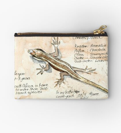 African Striped Skink - Not so easy! Zipper Pouch