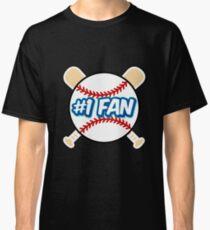 Baseball Number 1 Fan Classic T-Shirt