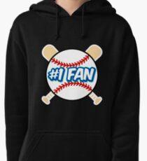 Baseball Number 1 Fan Pullover Hoodie