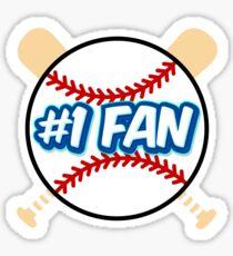 Baseball Number 1 Fan Sticker