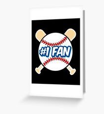 Baseball Number 1 Fan Greeting Card