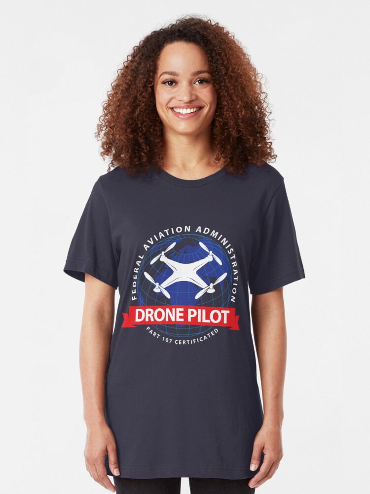 Alternative Ansicht von Certified Drone Pilot - Funny Aviation Quotes Gift Slim Fit T-Shirt