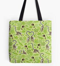 green lemur love Tote Bag