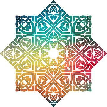 Abstract mandala design  by AdiDsgn