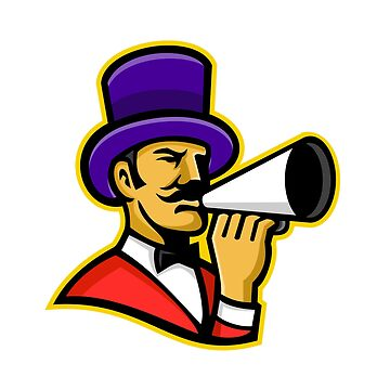 Circus Ringleader or Ringmaster Mascot by patrimonio