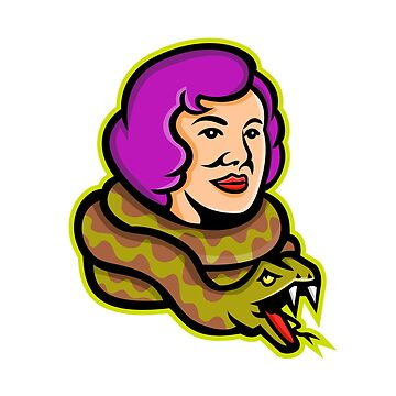 Circus Freak Snake Lady Mascot by patrimonio