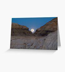 Moonrise in the Bisti Greeting Card