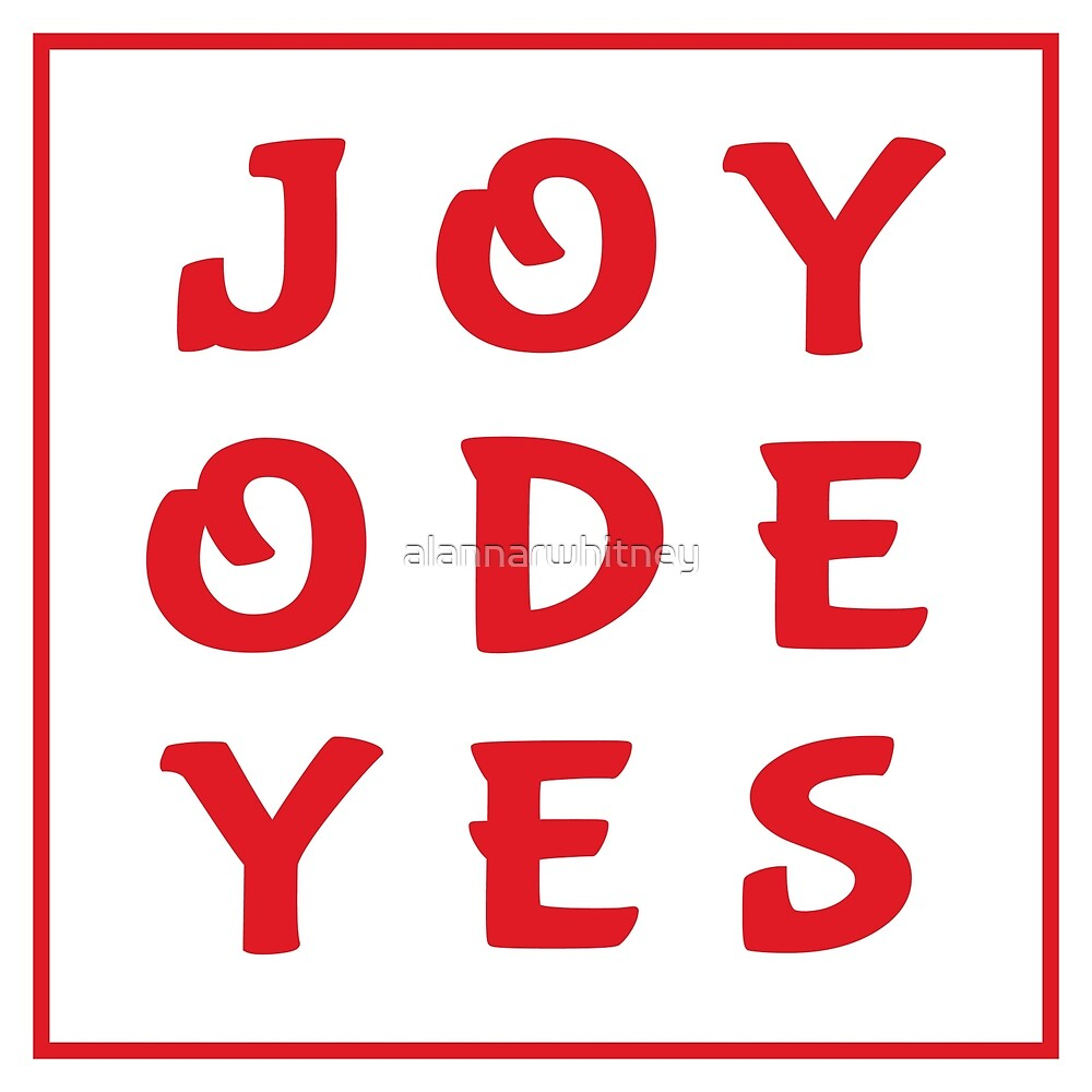 Joy Ode Yes – Red by alannarwhitney