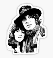 4th Doctor and Sarah-Jane Sticker