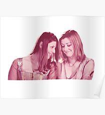Willow & Tara - Pink Under Your Spell, Buffy the Vampire Slayer, BtVS, 90s, Joss Whedon, Sunnydale, LGBTQ, Gay Pride, Tara Maclay, Willow Rosenberg Poster
