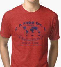 P. Fogg Esq. World Tour - Around the World in Eighty Days (Distressed Logo) Tri-blend T-Shirt