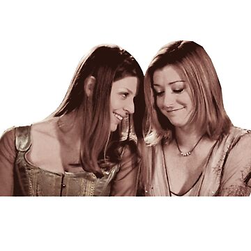 Willow & Tara - Sepia Under Your Spell, Buffy the Vampire Slayer, BtVS, 90s, Joss Whedon, Sunnydale, LGBTQ, Gay Pride, Tara Maclay, Willow Rosenberg by earthengoods