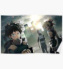My Hero Academia - Deku, Todoroki & Bakugo Poster