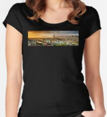 Sunset in Florence Women's Fitted Scoop T-Shirt