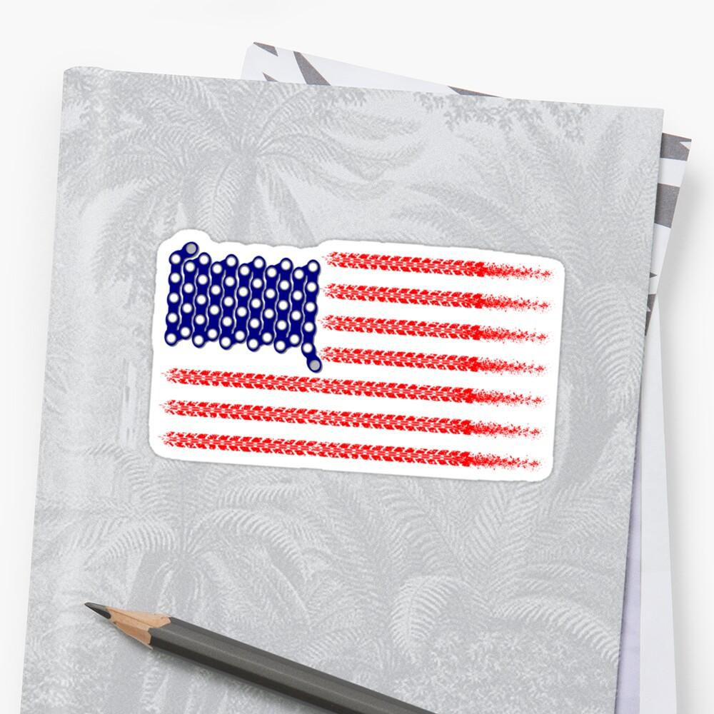 Bike USA Flag by piedaydesigns