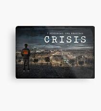 CRISIS Teaser Poster (Versión Ciudad) Lienzo metálico